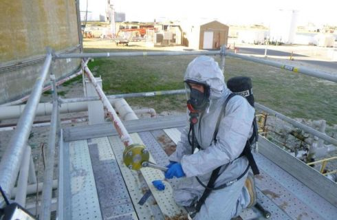 Quickflange Installation on an Ammonia Line